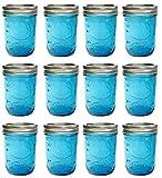 Ball Mason Jar-32 oz. Aqua Blue Glass Ball Collection Elite Color...