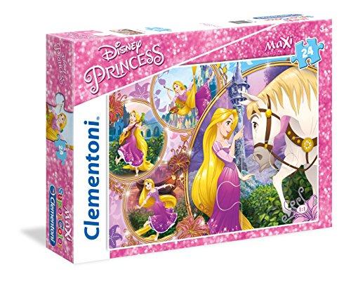 Clementoni- Princess Tangled Supercolor Puzzle, 24 Pezzi, 23702