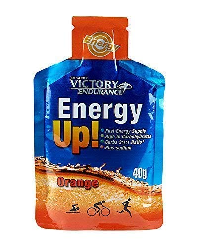 Energy Up Gel Cafeína Sabor Naranja 24x40g. Con plus de sodio. Energía inmediata