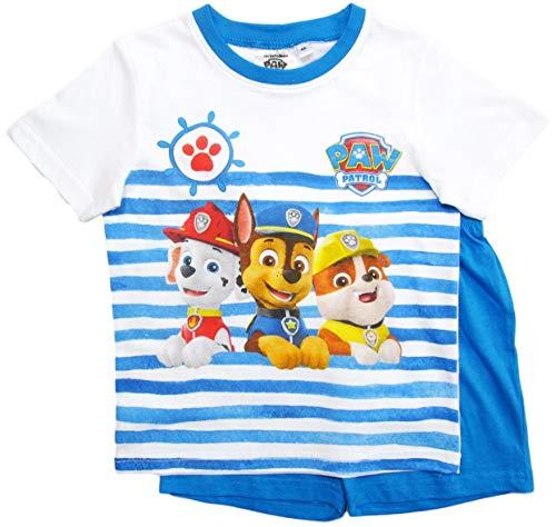Paw Patrol Schlafanzug Kollektion 2018 Pyjama 92 98 104 110 116 122 Shortie Shorty Jungen Blau (Blau, 92-98)