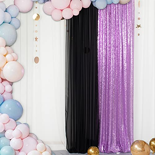 Sequin Curtains Backdrop 2FTx8FT 1PC Sequin Photo Backdrop Shimmer Curtains Panel for Backdrop Photo Booth Baby Shower Background 2FTx8FT Lavender Curtain ONE Panel