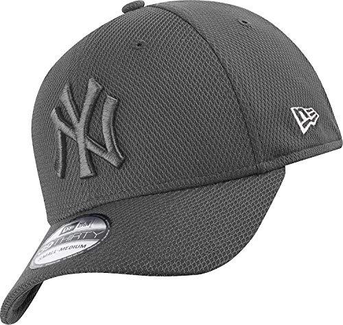 New Era New York Yankees 39thirty Stretch Cap Diamond Era Tonal Grey - M - L