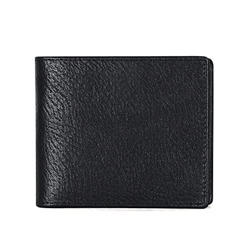 RFIDKopfschicht Leder Kurzleder Brieftasche Herren Brieftasche MultiCard Business Casual Leder Herren Tasche Clip
