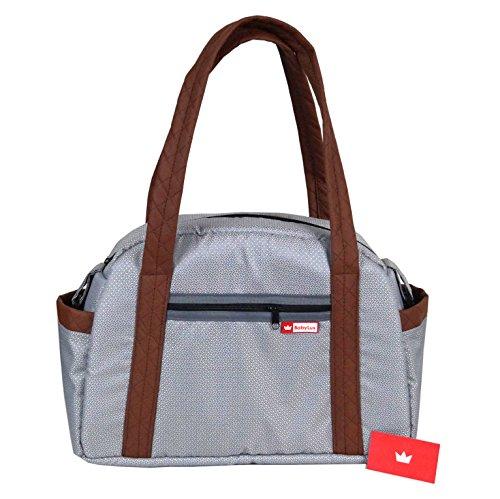 BabyLux Wickeltasche CANDY LUX Kinderwagentasche Baby Windel Tasche Pflegetasche (CandyLux Silber)