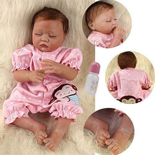 ZIYIUI Bambola Reborn Femmina 20 Pollici 50 CM Realistico Vinile Silicone Morbido Simulazione Bambino Bambole Reborn Toddler Babies Regalo di Compleanno Giocattoli (20 Pollici )