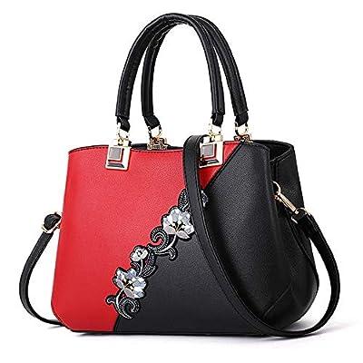ELDA Embroidery Women Top Handle Satchel Handbags Shoulder Bag Tote Purse Messenger Bags