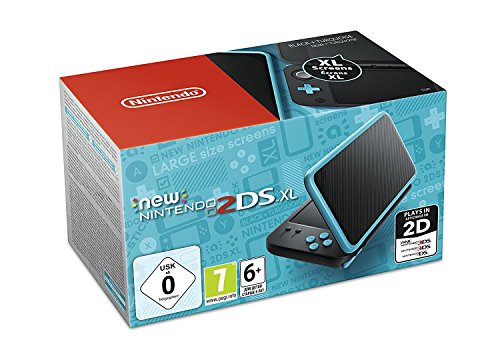 Nintendo 3Ds - Consola New Nintendo 2Ds XL, Color Negro y Turquesa