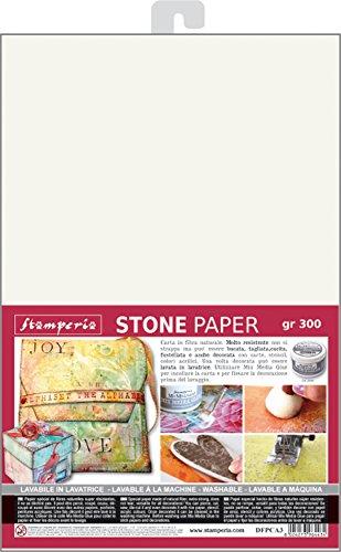 Stamperia Intl Stamperia-Stone Papel, multicolor, 41,91 x 30,48 x 0,12 cm