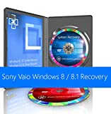Sony Vaio Windows 8 / 8.1 Standard / Pro / Home System Recovery Restore Reinstall Repair Boot Disc + Driver DVD 32 Bit