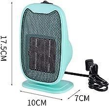 Calentador Para el Hogar, Mini Calentador de 400W Para el Hogar, PTC, CalefaccióN de CeráMica, Calentador PequeñO de Escritorio, BañO Para el Hogar de Invierno, Estufa de Aire Caliente,Verde