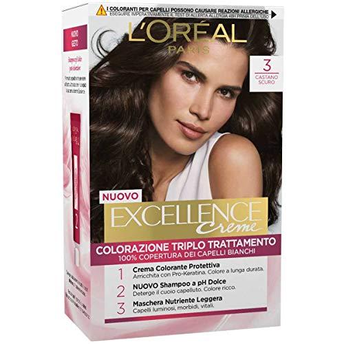 L'Oréal Paris Excellence Crema Colorante Triplo Trattamento Avanzato, 3...