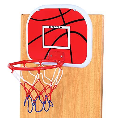 Shipenophy Basketball für Kinder Mini verstellbare Basketballplatte Set Kinder Kinder Spielzeug Geschenk Outdoor Fitness(Non-Marking Sticking Hook)
