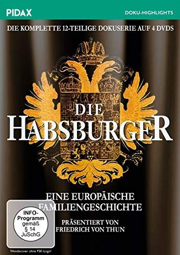 Die Habsburger - Eine europäische Familiengeschichte / Die komplette 12-teilige Serie (Pidax Doku-Highlights) [4 DVDs]