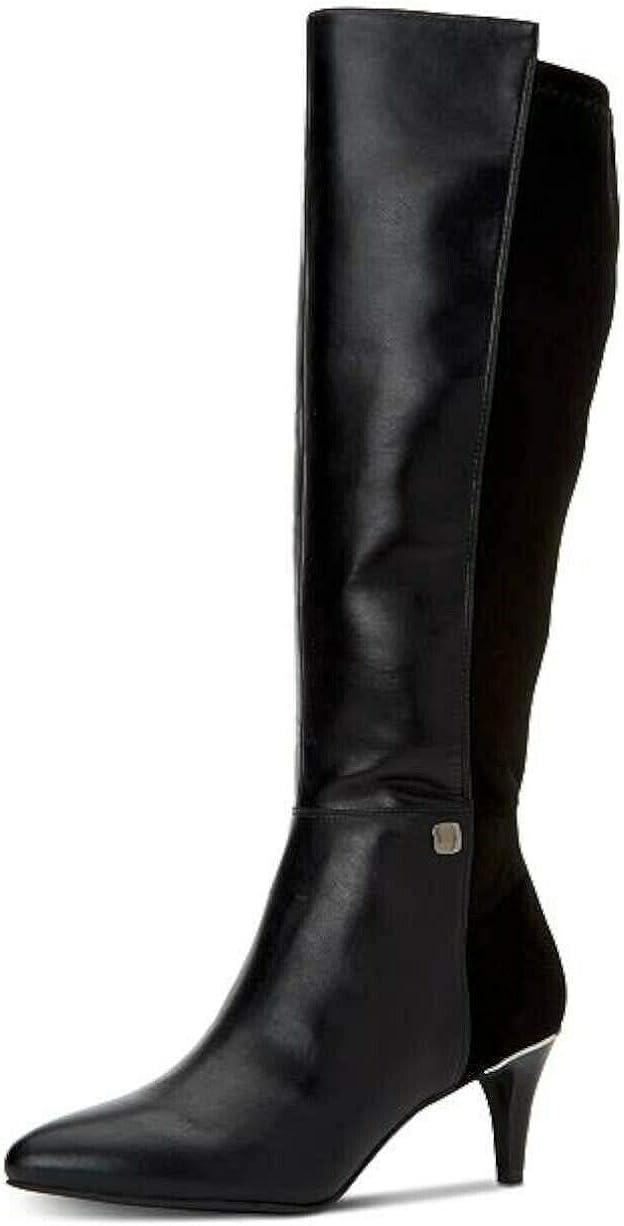 Alfani ランキングTOP10 Womens ●手数料無料!! Hakuu Faux Leather Knee-High Toe Pointed Boots