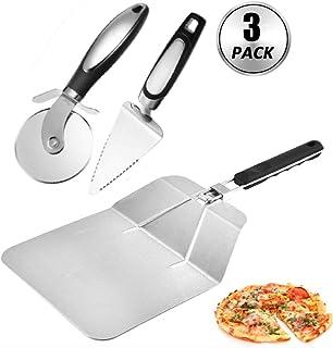 Palettino pizza inox Forato tondo 26 cm manico 1.20 mt R26//120