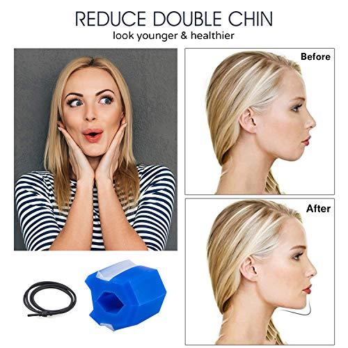 Jawline Trainer, Doppelkinn-Trainingsgerät, Jaw Exerciser, Gesichtstrainer für Gesichtsmuskeln, Kiefer Training, Reduzieren Sie das Doppelkinn