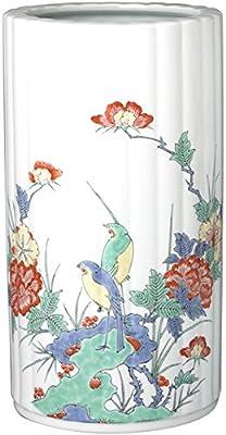 有田焼 傘立て 陶器 (かさ たて) 牡丹花鳥