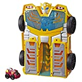 Transformers Playskool Heroes Rescue Bots Academy Bumblebee Track Tower 14' Playset, 2-in-1 Converting Robot, Collectible Toys for Kids Ages 3 & Up
