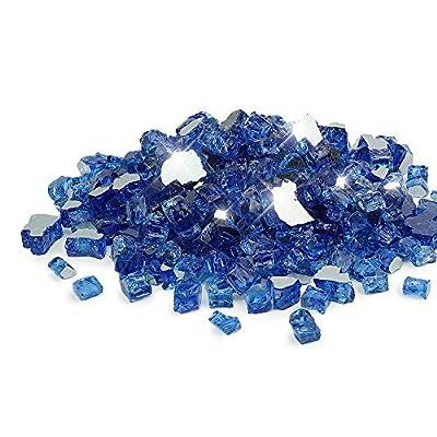 Golden Flame Ultra 1/2-Inch x 10-Pound (Fire Glass) Cobalt Blue Reflective
