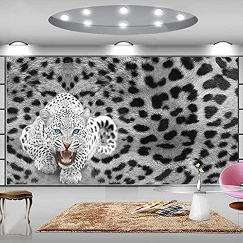 Papel Pintado Pared Gris Leopardo Marca ZSDFAEG