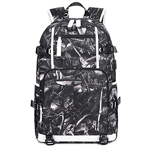 Mochila para portátil para mujer impresión de viaje Bookbag para la escuela universidad casual Daypack con puerto USB negocios, Color-e, L