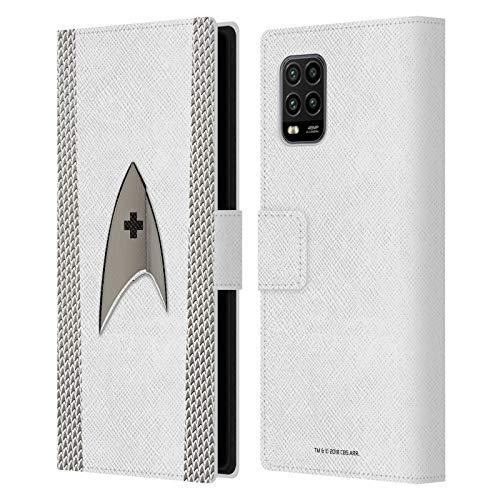 Head Case Designs Oficial Star Trek Discovery Médica Uniformes Carcasa de Cuero Tipo Libro Compatible con Xiaomi Mi 10 Lite 5G