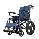 SXFYMWY Sedia a rotelle Pieghevole Leggeri Cuscini ad Alta densità di Viaggio carrozzine Trolley per disabili e Anziani