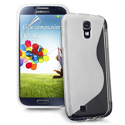 ebestStar - Cover Compatibile con Samsung S4 Galaxy i9500 i9505 Custodia Protezione S-Line Design Silicone Gel TPU Morbida e Sottile, Trasparente [Apparecchio: 136.6 x 69.8 x 7.9mm, 5.0'']