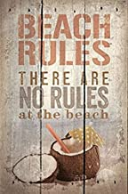 """Artistic Reflections 16"""" x 10.25"""" Reclaimed Wood Pallet Art -Beach Rules"""