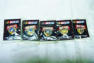 Vintage Rare 1948-1998 Officially Licensed Stock Car Racing 50th Anniversary Complete 5 Gold Metal and EnamelPin Set-NIP