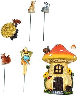 TOPBATHY Miniature Fairy Garden Decorations Small Fairy Figurines Cake Decor Home Decorations Fairy House Animal Miniature...