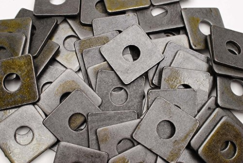 (40) Plain Steel 5/8 x 2 Square Plate Washers 3/16 Thick Unplated