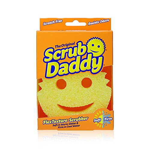 Scrub Daddy Original Scratch Free FlexTexture Scrubbing Sponge, Yellow