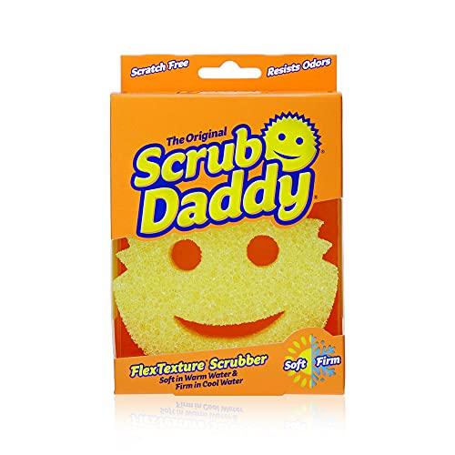Scrub Daddy Originele kras Vrije FlexTexture Scrubben Spons, Geel