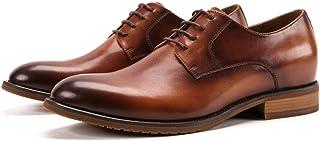 Shoes Comfortable Mens Leather Belt Derby Shoes Men Handmade Mens Shoes Office Business Shoes Dress Shoes Fashion (Color : Brown, Size : 7-UK)