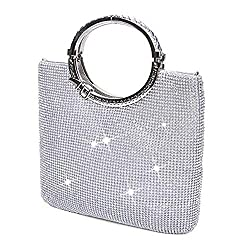Silver (big Size) Triangle Full Rhinestones Clutch Bag