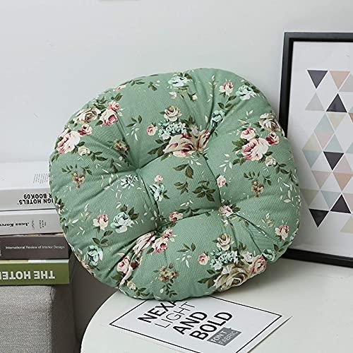 Chair Cushion Seat Chair Seat Pads Padded Cushion 4Pack CSeat Cushion Cotton Line Futon Pad Thicken Fabric Round Retro For Balcony Bay Window Tatami Floor Mat (40 * 40cm,45 * 45cm,50 * 50cm)