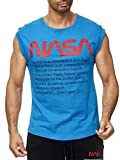 Red Bridge NASA Logo USA M1838 - Camiseta sin mangas para hombre (algodón) Color azul. M