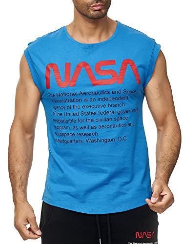 Red Bridge M1838 - Camiseta sin mangas para hombre, diseño de la NASA con logotipo de Estados Unidos Color azul. M