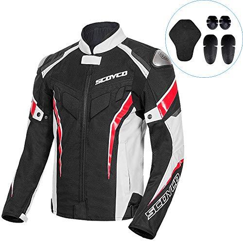 Motorjassen voor mannen waterdichte reflecterende motorfiets racen pak bescherming apparatuur comfortabele ademende jassen