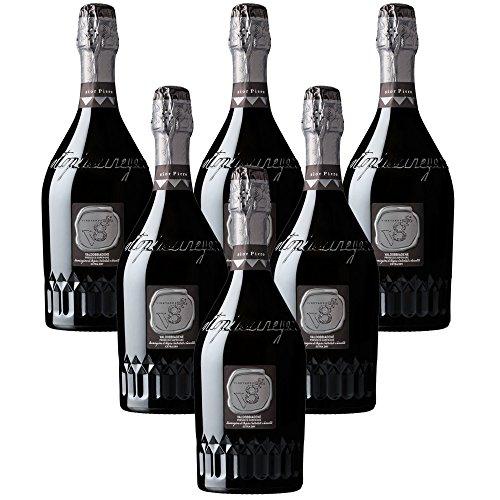 Sior Piero Prosecco Valdobbiadene Superiore DOCG Spumante Vineyyeards V8+ 6 X 75