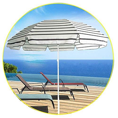 DFBGL Sombrilla de Playa portátil Refugio Solar de Rayas de 7.8 pies para Patio, cafetería, Restaurante, balcón, Uso al Aire Libre