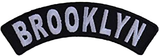 Brooklyn Small Rocker Patch - 4x1.25 inch. Embroidered Iron on Patch