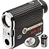 Luepold Golf GX-5i3 Rangefinder + CR2 Battery + 1 Custom Ball Marker Clip Set (American Eagle)