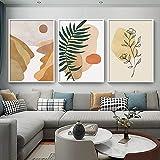 Impresión abstracta Carteles Gráficos Ilustración Lienzo Pintura Indie Pop Decoración Boho Arte de la pared Imagen Decoración del hogar 50x80cmx3pcs Sin marco