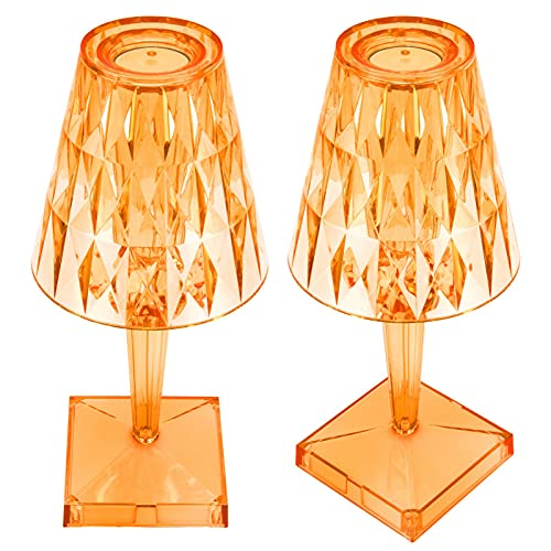 Seacanl Lámpara de Escritorio de Prisma, luz de Mesa de Cristal Regulable para decoración de Bar, Hotel para Regalos para el hogar(Naranja, Tipo de Torre Inclinada de Pisa)