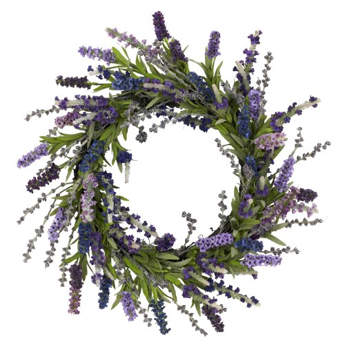 Nearly Natural 4785 Lavender Wreath, 20-Inch, Purple