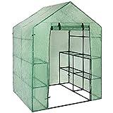 MapleMiss Greenhouse Outdoor Mini Garden Walk-Out Greenhouses Cover, Portable Greenhouses - UV-Proof Waterproof Greenhouse Cover PE Garden Walk-in Greenhouse Plant Cover Greenhouse Grid Cover