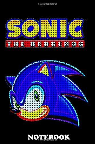 Notebook: Sonic The Hedgehog Pixel , Journal for Writing, College Ruled Size 6' x 9', 110 Pages