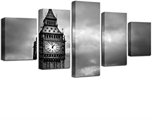 Wall Decor Canvas Pictures Home Decor Living Room Frame 5 Pieces Tower Paintings Hd Prints London Big Ben Poster Wall Art